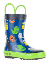 Load image into Gallery viewer, Children's Monster Rain Boots Blue