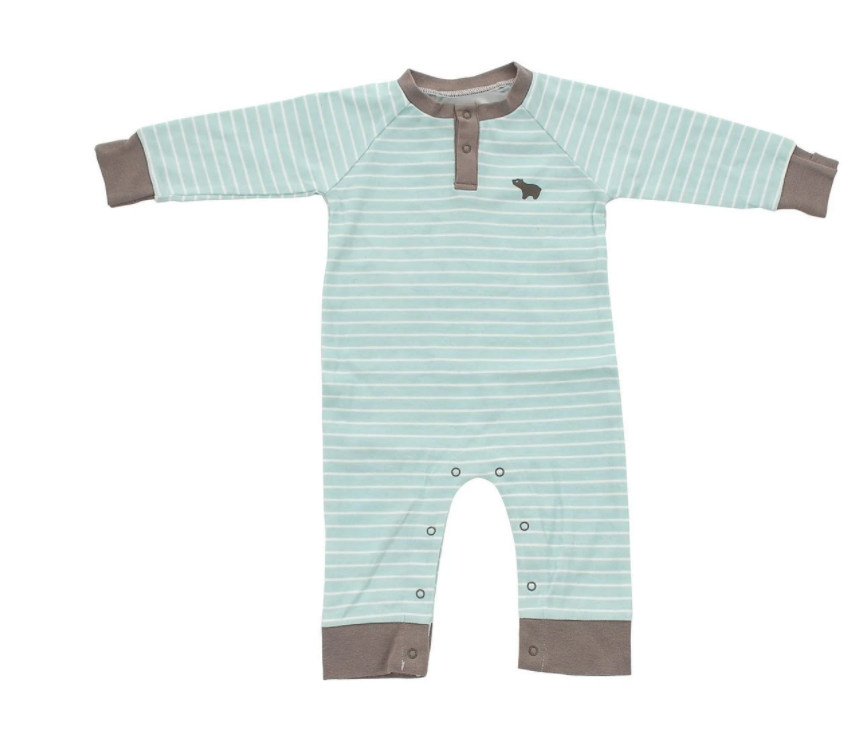 Organic Cotton Long Sleeve Romper