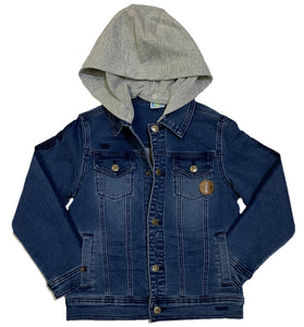 Youth Denim Jacket with Removable Hood