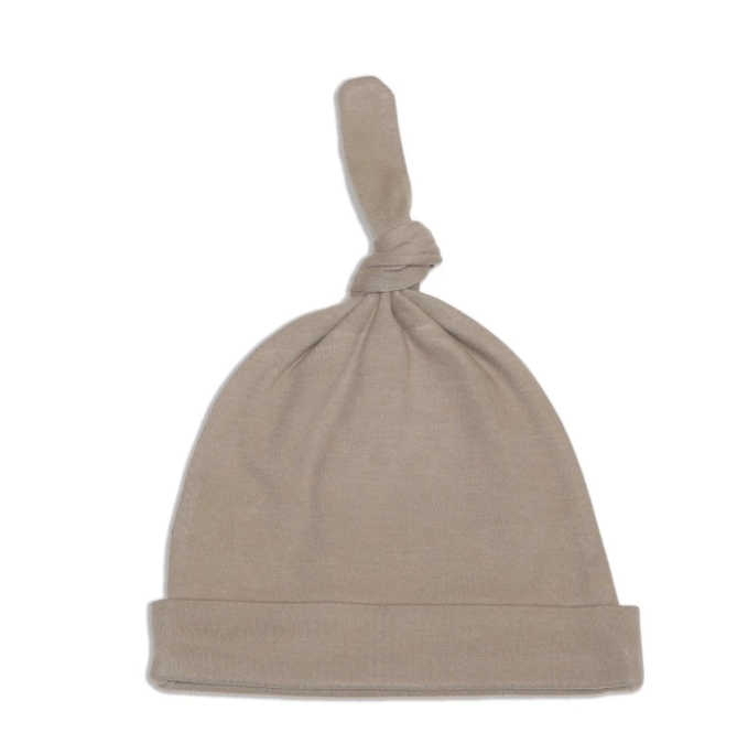 Organic Cotton Knot Hat (Bear cub)