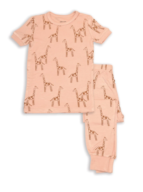 Bamboo Short Sleeve 2pc Pajama Set (Daisy Giraffe)