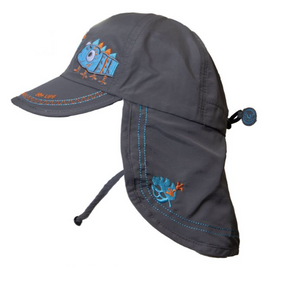UV Quick Dry Hat w/ Neck Protection (Grey)