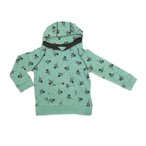 Bamboo Fleece Hoodie w/ Kangaroo Pocket (Roller Booties Print)