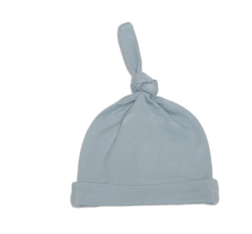 Organic Cotton Knot Hat ( Foggy)