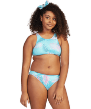 Load image into Gallery viewer, Roxy Girls Leaf Garden Crop Top Set