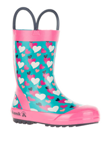 Toddler Lovely Rain Boots Teal