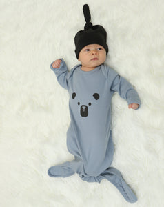 Organic Cotton Knotted Sleeper (Foggy)