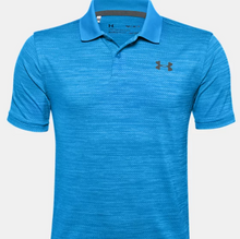 Load image into Gallery viewer, Boy's UA Performance Polo Electric Blue