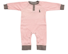 Load image into Gallery viewer, Organic Cotton Long Sleeve Romper (Blush Dot)