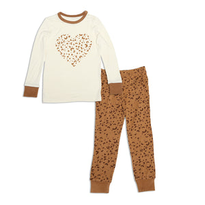 Long Sleeve 2pc Pajama Set (Geometric Leopard)