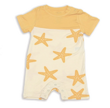 Load image into Gallery viewer, Bamboo Short Sleeve Romper (Starfish)