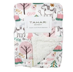 Girls Minky Backed w/ Sherpa Blanket