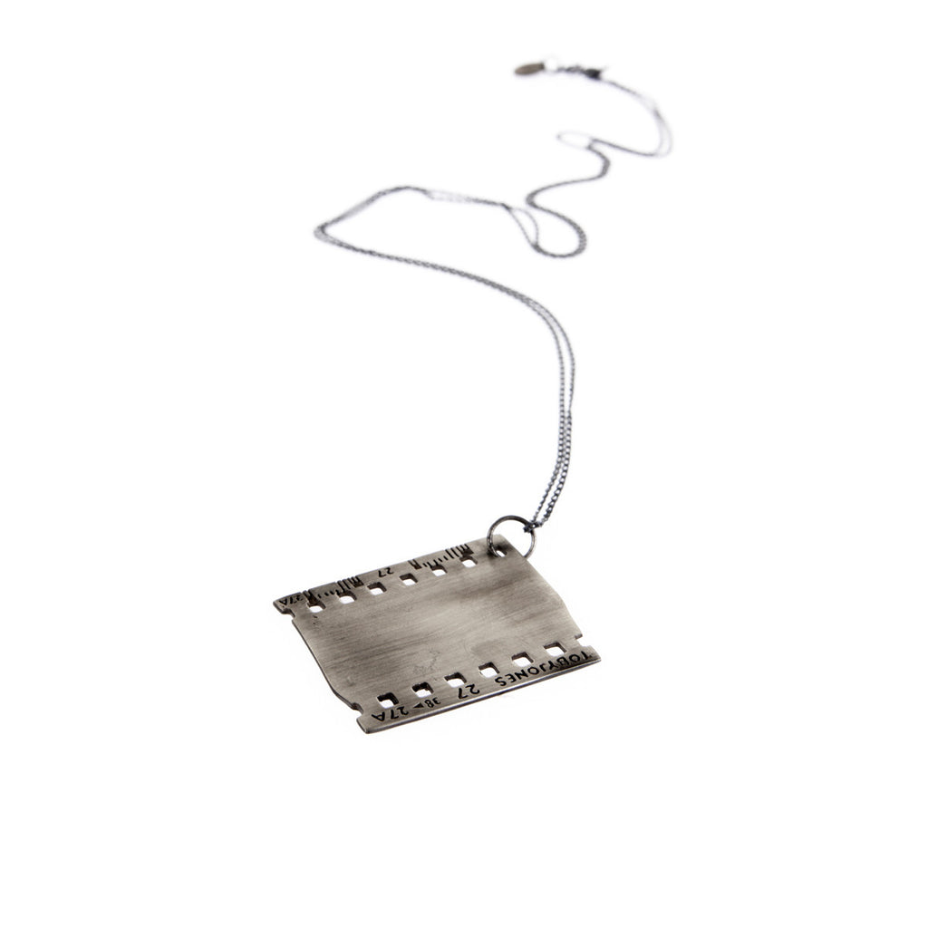 35Mm Film Frame Necklace silver
