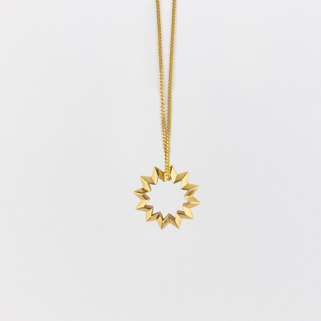 Shock Star Necklace Gold