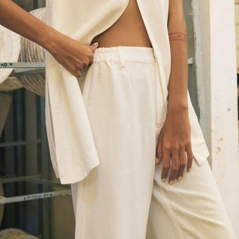 Cropped Pant White