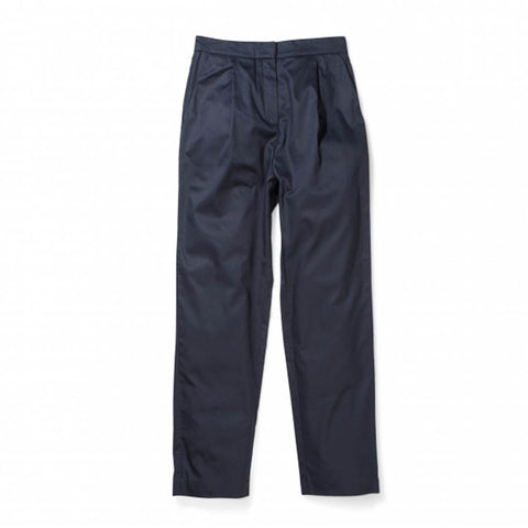 Disa Washed Cotton Trousers-Dark Navy