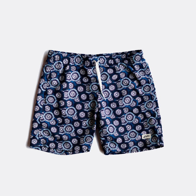 Flowers Blue Swim Trunk