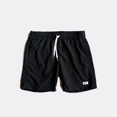Jet Black Swim Trunk