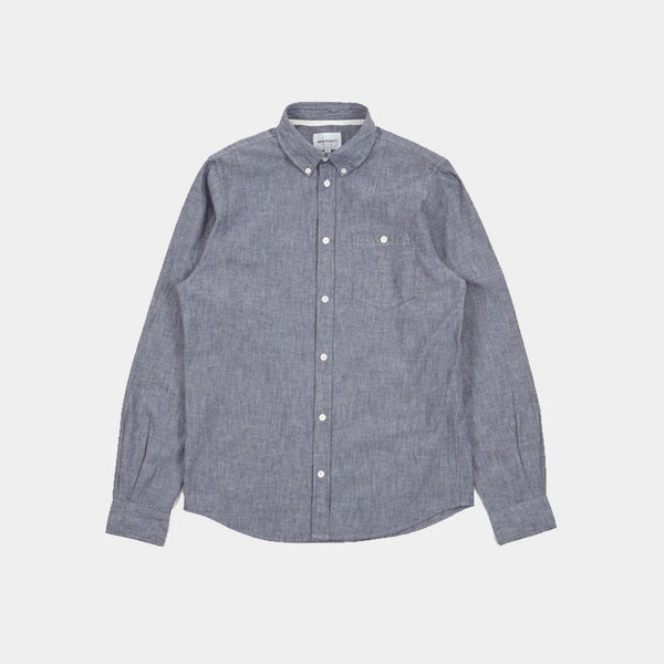 Anton Oxford Shirt Chambray Indigo