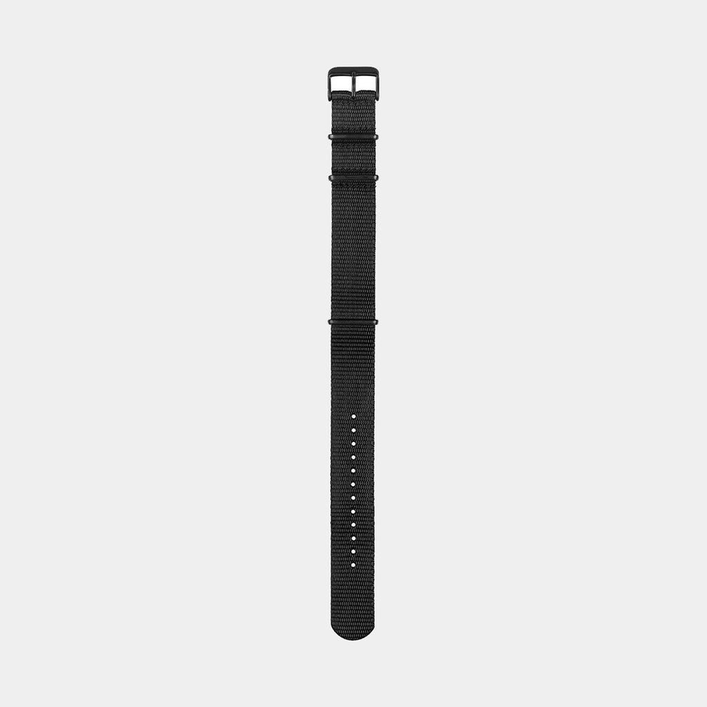Black Nylon Wristband/Black Buckle