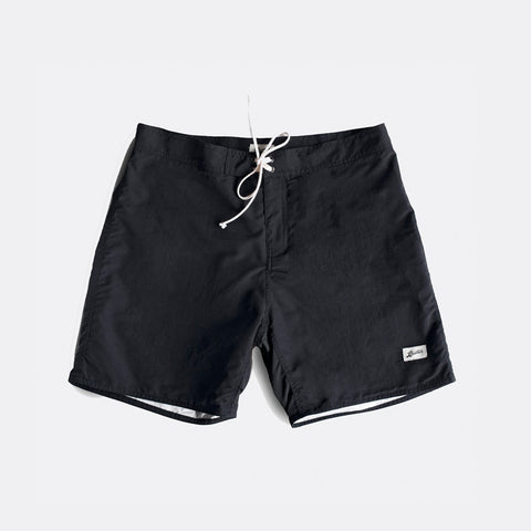 Jet Black Surf Trunk