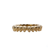 14k Demetri Band of Skulls Ring