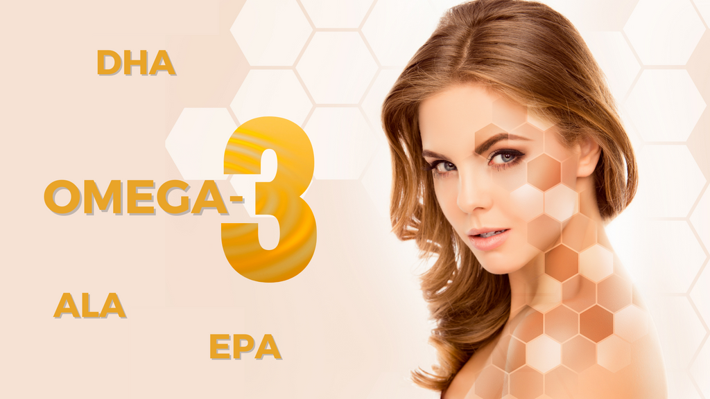 Omega-3s Works Powerfully For Your Skin and Hair. With DHA, ALA and EPA.