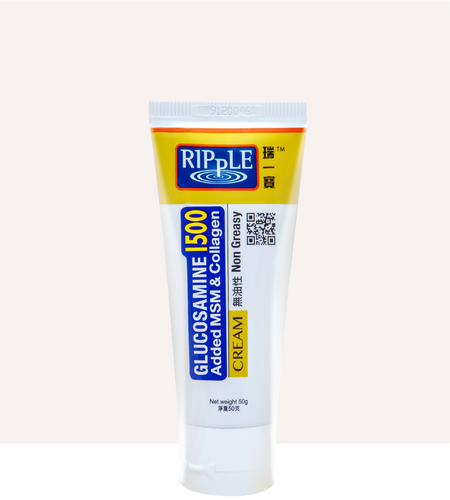 Ripple Glucosamine Cream 1500 50g with MSM & Collagen - Fei Fah Medical Manufacturing Pte. Ltd.