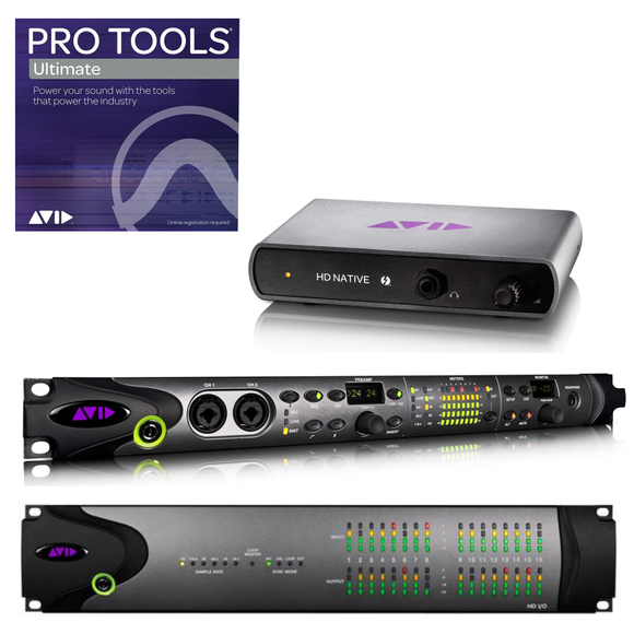 Avid Paquete HD Native TB + HD OMNI + HD 16x16 Analog + PT ULTIMATE