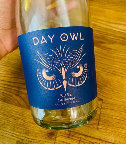 day owl rosé wine front label