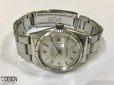 Rolex Datejust Linen Dial Steel Automatic 1978 Watch - Ref 16014