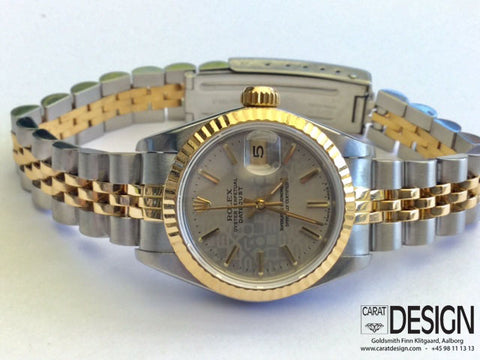 Rolex Datejust Ladies Steel Gold 26 mm with Silver Dial