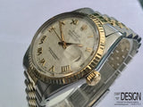 Rolex Datejust Automatic Gold Steel Men's Watch 1984 16013