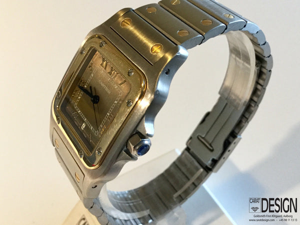 Cartier Santos Gold Steel Quartz