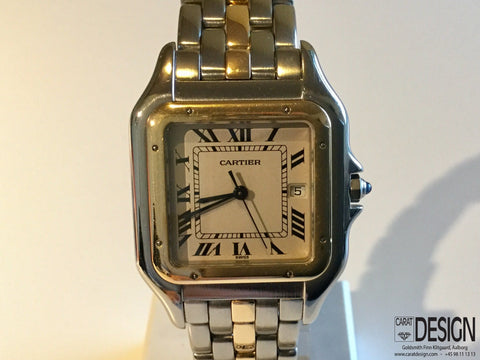 Cartier Panthere Mens Quartz Gold Steel