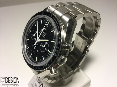 Omega Moonwatch Sapphire Glass Front And Back - 42mm Manual Steel