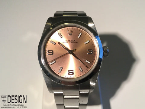 Rolex Oyster Perpetual Salmon Dial Watch