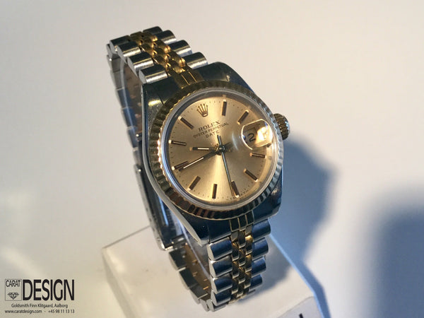 Rolex Lady Datejust Automatic Gold Steel Womens Watch - Ref 69173