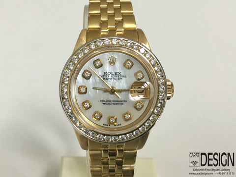 Rolex Lady-Datejust 18K Gold - Mother of Pearl Diamond Dial