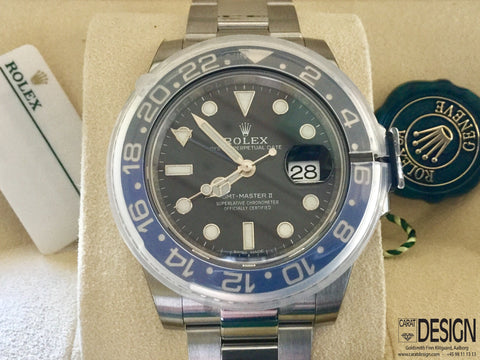 Rolex GMT-Master II Batman Steel 40mm - Original Box and Papers