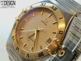 Omega Constellation Quartz 3mm Gold Dial - Original Box and Papers