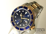 Rolex Submariner Date blue dial, bezel. Serviced
