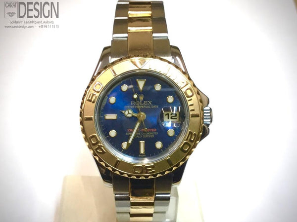 Rolex yacht-master 29 mm steel gold ladies - serviced