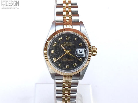 Rolex DateJust ladies steel gold 26 mm rare Rolex dial #76