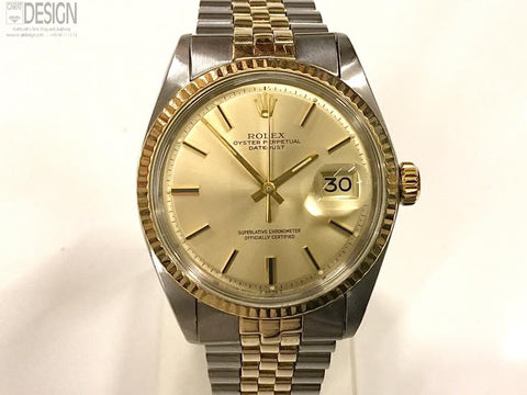 Rolex DateJust steel gold model 1601 from 1969