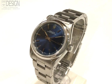 Rolex 31 mm steel blue dial model 67480