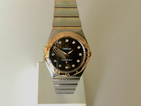 Omega constellation steel gold diamond dial 2012