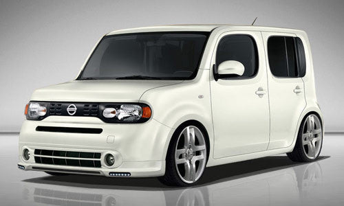 nissan cube front spoiler w led drl z12 jp usa. Black Bedroom Furniture Sets. Home Design Ideas