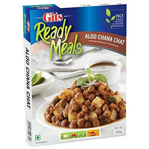 Gits Aloo Chana Chat 300gms - Just Heat and Eat