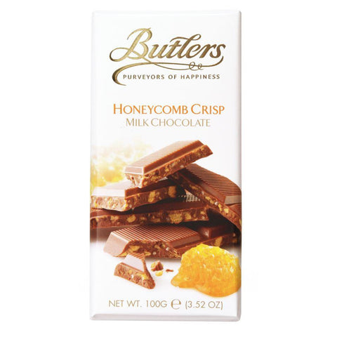 Butlers Milk Chocolate Bar with Honeycomb Crisp 100g